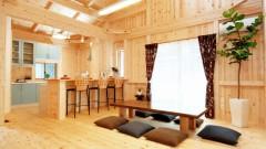 平屋の木のぬくもりたっぷりな家