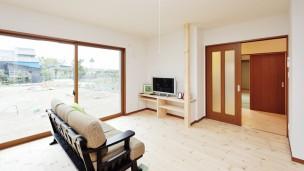 玄関とお風呂が共有の二世帯住宅の家