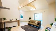 四角と三角を組み合わせた迫力あるデザインの家